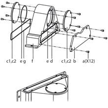 Flansch-Adapter aus Edelstahl für IPPC-5211WS