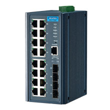 EKI-7720E-4F Managed Fiber Optic Gigabit Switch