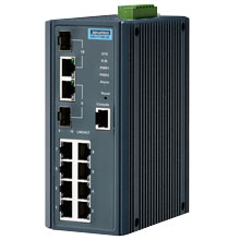 EKI-7710E-2C Managed Fiber Optic Gigabit Switch