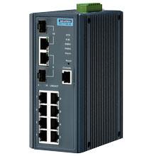 EKI-7710E-2C Managed Fiber Optic Gigabit Switch