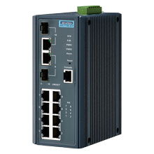 EKI-7710E-2CP Managed Fiber Optic Gigabit Switch