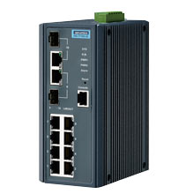 EKI-7710G-2C Managed Fiber Optic Gigabit Switch