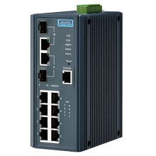 EKI-7710G-2CP Managed Fiber Optic Gigabit Switch