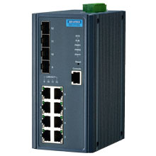 EKI-7712E-4F Managed Fiber Optic Gigabit Switch