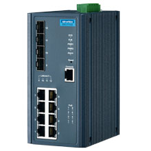 EKI-7712G-4FP Managed Fiber Optic Gigabit Switch