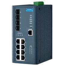 EKI-7712G-4FPI Managed Fiber Optic Gigabit Switch