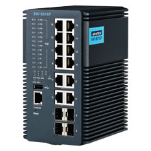 EKI-9316P Managed Fiber Optic Gigabit PoE Switch