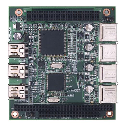 PCM-3620 PC/104+ USB/IEEE1394a-Modul