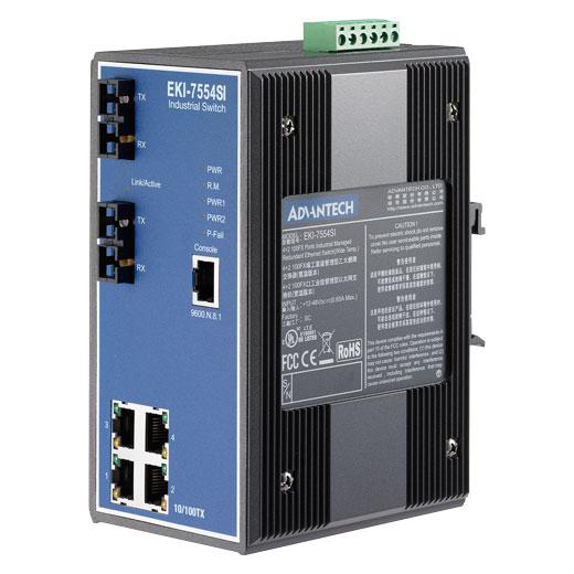EKI-7554SI Managed Fiber Optic Ethernet Switch