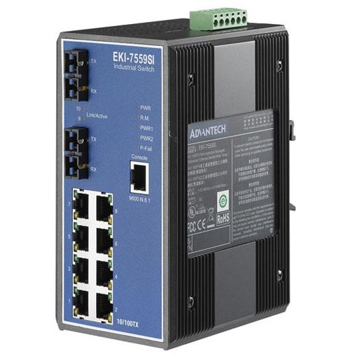 EKI-7559SI Managed Fiber Optic Ethernet Switch