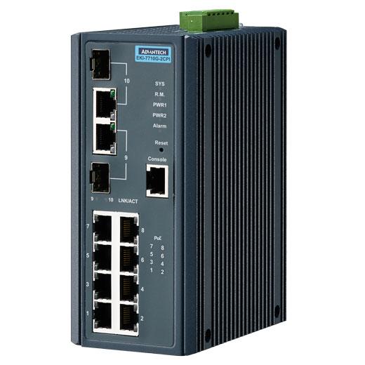 EKI-7710G-2CPI Managed Fiber Optic Gigabit Switch