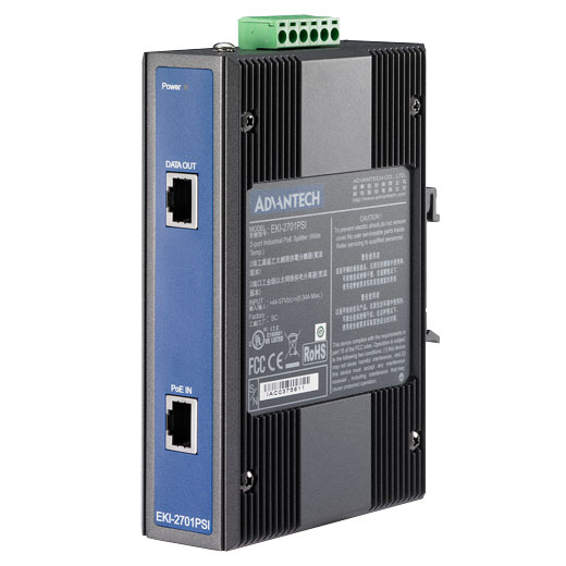 EKI-2701PSI Power over Ethernet (PoE) Splitter