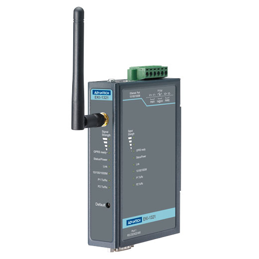 EKI-1321 Seriell/Ethernet zu Mobilfunk Gateway