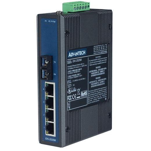 EKI-2525M Unmanaged Fiber Optic Ethernet Switch