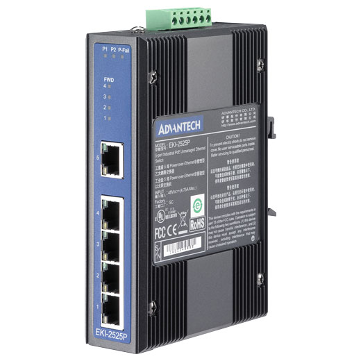 EKI-2525P Unmanaged PoE Ethernet Switch
