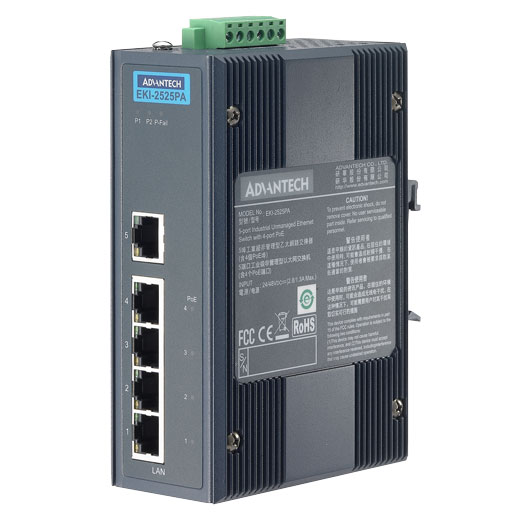EKI-2525PA Unmanaged PoE Ethernet Switch