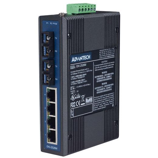 EKI-2526M Unmanaged Fiber Optic Ethernet Switch