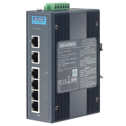 EKI-2526PI Unmanaged PoE Ethernet Switch