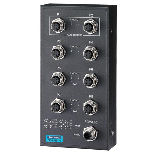 EKI-6528TPI Unmanaged EN50155 PoE Ethernet Switch